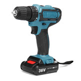 36V Rechargable Lithium Power Dirlls Cordless Electric Drill Set 2 Speed Adjustment LED Lighting Screw Driver Tool With 1 Or 2 Batteries