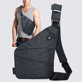 Men Hidden Crossbody Shoulder Bag Anti Theft Messenger Bag Motorcycle Chest Pack