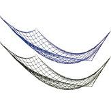 260 x 80 cm Nylon Neto al aire libre 2 personas Hamaca doble Portátil cámping Cama colgante colgante de paracaídas Carga máxima 110 kg