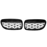 Front Kidney Diamond Meteor Style Grille Grill Black Mesh For BMW E90 51137201969 51137201970