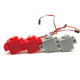KittenBot® 360 ° Red Color Geek Сервопривод и 270 ° Grey Color Geek Мотор с Провод для Lego / Micro: бит