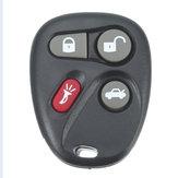 4 Botón de repuesto de entrada sin llave Control remoto Key Fob Alarma de Shell para Koblear
