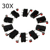 30Pcs KW12-3 Micro Limit Switch Met Roller Lever 5A 125V Open / Sluit Switch