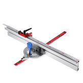 木工450mm 0〜90度の角度のマイターゲージシステム、600 / 800mmアルミニウム合金フェンスおよびテーブルソー用ストップソーアセンブリルーラー