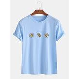 Fleurs de marguerite en vrac col rond manches courtes T-shirts décontractés pour hommes femmes