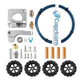 Capricorn Premium XS Bowden Tubing + Upgraded Metal Feeder Extruder Frame + Pneumatic Couplers & Bed-level Spring Kits  for Ender 3/3 Pro/5 CR-10 Series/10S/20/20 Pro