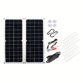 10W 16V 0.9A 420x190x2.5mm Monocrystalline Solar Panel   4 * Spring   Cables Kit with Rear Junction Box Support USB Port