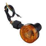 Pair Motorcycle Turn Signal Light Amber Indicator Lamp