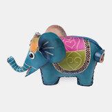 Unisex Piel Genuina Moneda con forma de elefante lindo animal Bolsa Cartera de almacenamiento Colgante