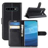 PUкожаныйбумажникKickstandФлипЗащитный Чехол Для Samsung Galaxy S10 6.1 дюймов