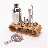 10pcs Cocktail Shaker Set Maker Mixer Martini Spirits Bar Strainer Bartender Kit