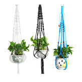 Nylon Rope Tassel Flower Pot Hanging Basket Net Knotted Rope Plant Holder