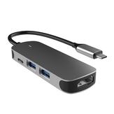 Geva Type C para USB3.0 Divisor Type C para USB2.0 HD Hub 4 em 1 Adaptador de estação de acoplamento 5 Gbps Conversor TX4H