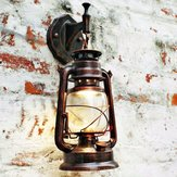 Retro parede poupança lâmpada lanterna do vintage montagem sconce luzes europeu