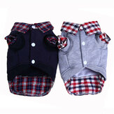 Winter Pet Cat Dog Hoodies Coat Puppy Dog Cotton False Two-piece Clothing Dog Coats