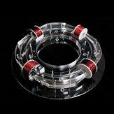 4 Acceleratore ad anello a spirale Ciclotrone Giocattolo ad alta tecnologia Modello fisico Kit fai da te Giocattoli regalo per bambini