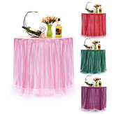 75*100cm Table Skirt Tableware Wedding Party Xmas Baby Shower Birthday Decor Supplies