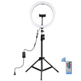 PULUZ PKT3050 11.8 inch RGBW Dimmable LED Ring Light for Vlogging Selfie Photography Video Broadcast Live with 110cm Tripod Mount
