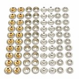80pcs en acier inoxydable snap set marine grippage encliquetable stud plomb socket
