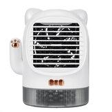 400ML USB Mini Refrigerador de aire acondicionado de refrigeración Humidificador de agua de escritorio Purificador Ventilador Purificador de aire