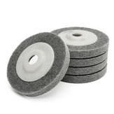 5 pcs 4 Inch Fiber Polishing Sanding Discs Set 100mm Logam Wood Buffing Wheel Pads
