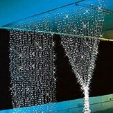 3x3M 300LED Outdoor Christmas Lights Window Curtain String Fairy Wedding Light 110V US