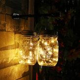 20 LED Solar Mason Jar Lid Lights String Fairy Star Firefly Jar Lids Lights