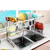 Rack de armazenamento de cozinha Armazenamento de plástico multicamada Arranjo doméstico para pratos de cozinha