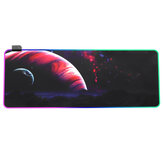 USB LED Gaming Mouse Pad RGB Glowing Single Side Desk Keyboard Mat Rubber Antiskid Computer Laptop Mat