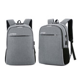 18L Men USB Anti-theft Backpack Rucksack 16inch Laptop Shoulder Bag With Headphone Hole Outdoor Travel