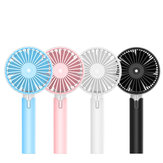 Portable Handheld Fan 4.5W Rechargeable Mini Cooling Fan 3 Speed USB Fan Wind Cooler Battery