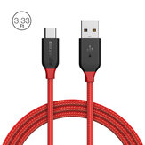 ब्लिट्ज़वॉल्फ® एमपकोर BW-TC5 QC3.0 3A USB Type-C लट चार्ज डेटा केबल 3.33ft / 1m