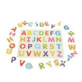 Alfabe ABC Ahşap Yapboz Oyuncak Çocuk Çocuk Eğitici Giymek Öğrenme