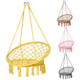 Cotton Metal Swing Seat Hanging Chair Hammock Max Load 240kg for Outdoor Garden Camping