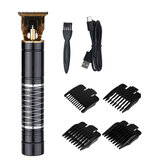 USB Retro Carving Electric Hair Clipper USB Charging Portable Hair Trimmers W/ 4pcs Limit Combs