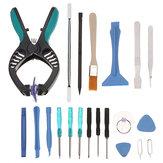 20 en 1 Reparación de Apertura de Reparación Alicate Desmontar herramientas Kits Precisión Destornillador Conjunto Repiar herramienta