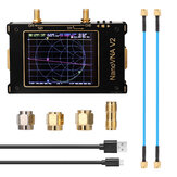 SAA-2 NanoVNA V2 50kHz - 3GHz 3.2 بوصة Large شاشة 3G Vector Network Analyzer SAA-2 NanoVNA V2 هوائي محلل Shortwave HF VHF UHF Measure Duplexer Filte