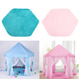Non-slip Baby Play Mat Short Hair Game Plush Mat Kids Tent Hexagon Princess Castle Playhouse Pad
