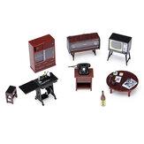 1:24 Vintage Minyatür Japon Tarzı Mobilya Çocuklar için Dollhouse Oyuncaklar Oyna