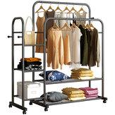Meerlagige hanger Kapstok Vloerstaand Droograil Eenvoudige opslagplank Bespaar ruimte voor de slaapkamer