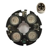 4pcs LED 850nm IR Lights 75 Bullet Camera Conch Hemisphere Camera Infrared Illuminator Board