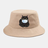 Collrown Cute Cat Isolated Hat Cotton Quarantined Bucket Hat