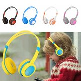 Bakeey Cute Kids Over Ear Stereo Wired Safely Headphones Adjustable Headband Computer Tablet Kid Baby Child Earphone for Net Class