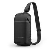 Kingsons Anti-theft Crossbody Bag with USB Charging Port Waterproof Chest Pack Sling Bag Shoulder Chest Bag