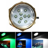 27W 1800LM DC 11-28V Titanium Under Water LED Light for Yacht Boat Car Motorcycle