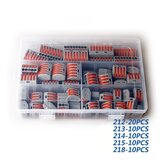 HORD® 60Pcs 2/3/4/5/8 Holes Fast Terminal Block Wire Connector with Plastic Box