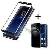 باكيي™3Dمنحنيحافةالزجاج المقسى فيلم مع تبو شفافة القضية ل Samsung GalaxyS8Plus