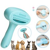 Usb Rechargeable Pet Hair Remover Shedding Grooming Brush Comb Vacuum Cleaner Trimmer