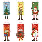 Père Noël bonhomme de neige porte suspendu arbre de Noël décor à la maison ornements cadeau de Noël
