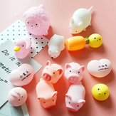 New Squishy Pink Pig Cartoon Soft Cute Animal Squeeze Sound Squeezing Called Slow Rising Decompression Toy